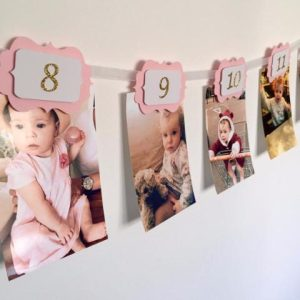 12 Months Photo Banner - First Year Birthday Garland