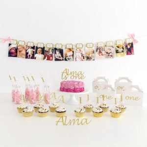 12 Months Photo Birthday Banner - First Year Birthday Garland