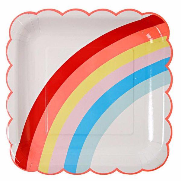 Rainbow large party plates