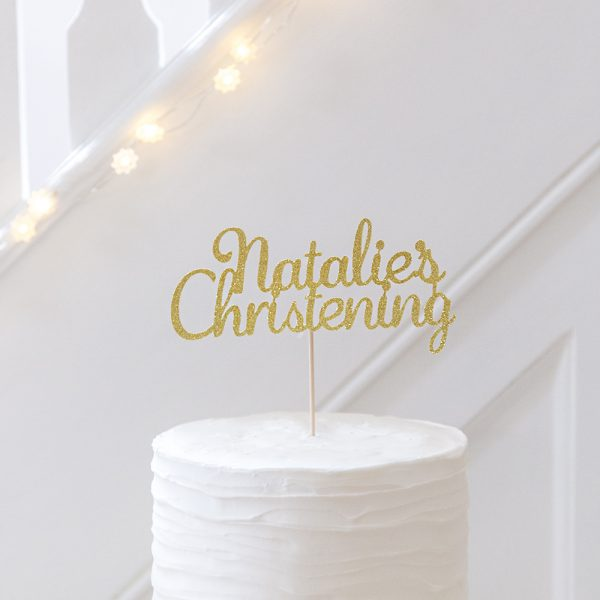 Christening Cake Topper Personalised with Baby's Name