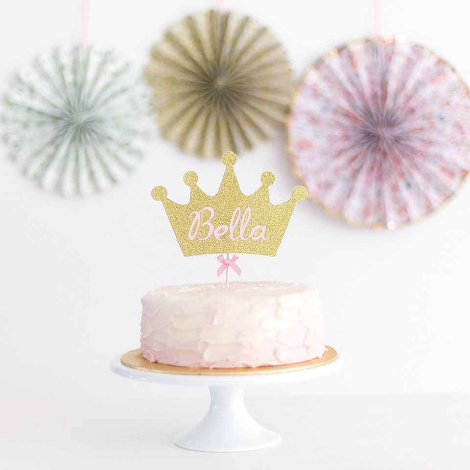Wondrous Crown Cake Topper Personalised With Name Inspired By Alma Funny Birthday Cards Online Elaedamsfinfo