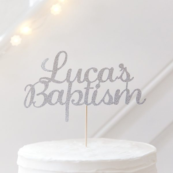 Christening cake topper WITH PERSONALISED NAME BAPTISM