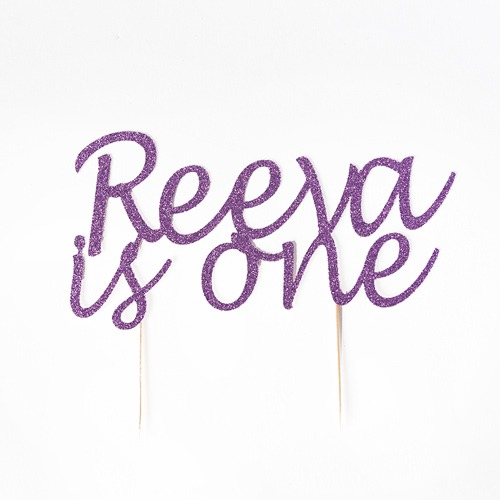 personalised birthday cake topper