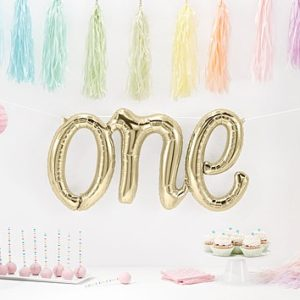 one balloon foil white gold