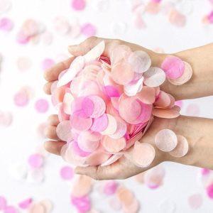 pink confetti blush wedding