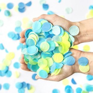 baby boy confetti gender reveal baby shower