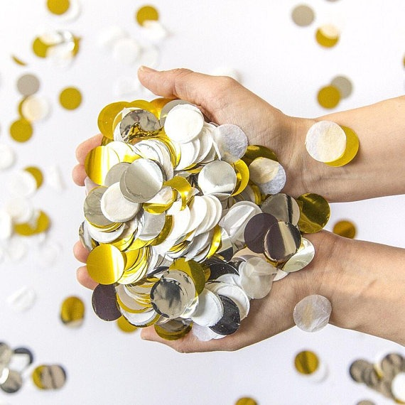 gold confetti wedding baby shower graduation