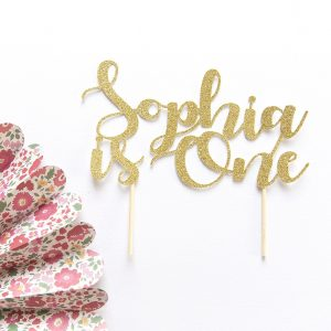 First Birthday Cake Topper | Fancy Font