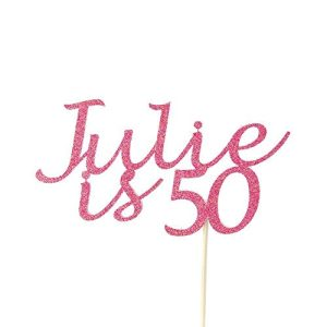 personalised birthday cake topper for adults birthdays 50th birthday party