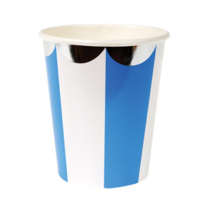Blue Striped Cups