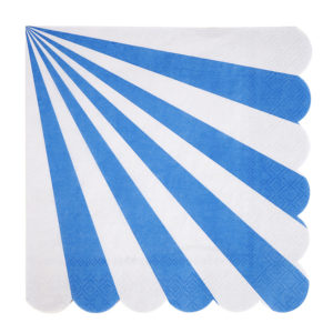Blue Striped Napkins Large