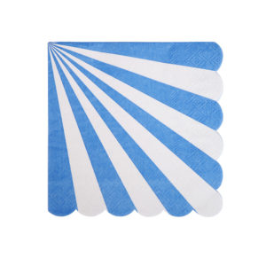 Blue Striped Napkins Small