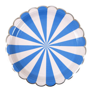 Blue Striped Plates Large