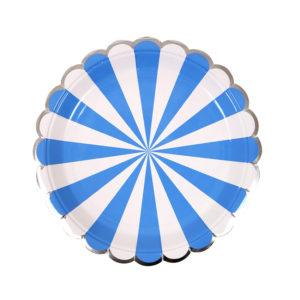 Blue Striped Plates Small