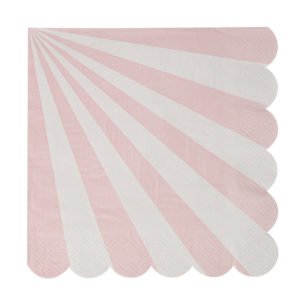 Dusty Pink Striped Napkins Large