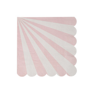 Dusty Pink Striped Napkins Small