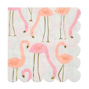 Flamingo Napkins Large