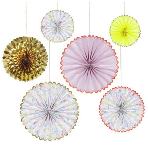 Floral Pinwheel Decorations
