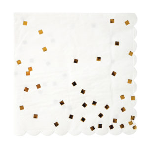 Gold Foiled Squares Napkins Large