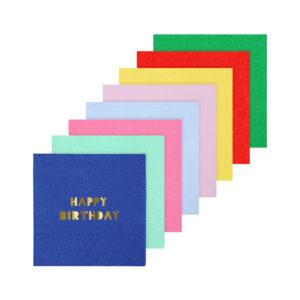 Happy Birthday Napkins Small