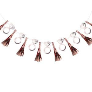 Hen Party Ring Tassel Rose Gold Garland wall decoration