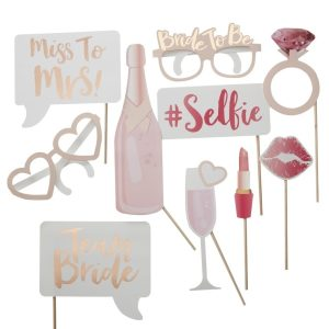 Hen Party Photo Booth Props | Team Bride Party Decorations