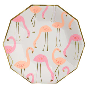 Flamingo Pattern Plates Large