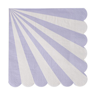 Lavender Striped Napkins Large