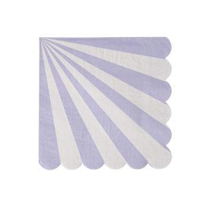 Lavender Striped Napkins Small
