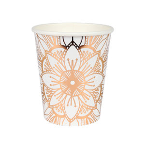 Mandala Pattern Party Cups