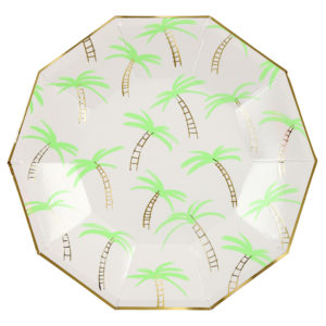 Palm Trees Plates Large