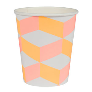 Pink And Orange Patterned Cups