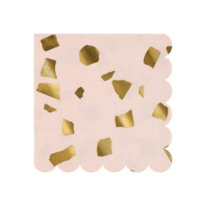 Pink Confetti Napkins Small