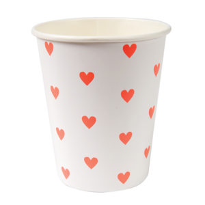Pink Hearts Pattern Party Cup