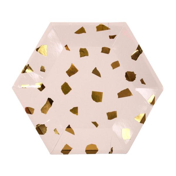 Pink Terrazzo Plates Small