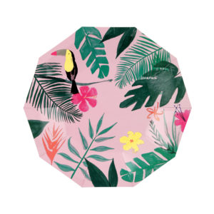 Pink Tropical Plates Small