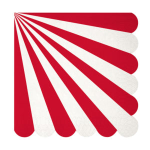 Red Stripe Napkins Large