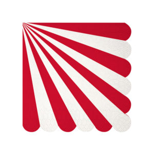 Red Stripe Napkins Small