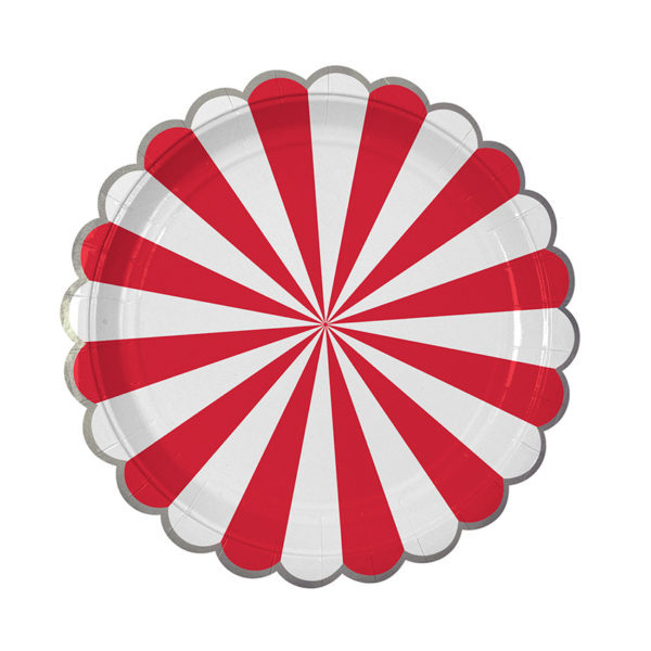 Red Stripe Plate Large