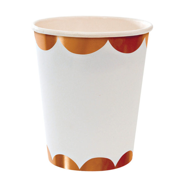 Rose Gold Scalloped Cups