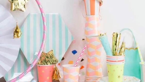 Tableware for birthdays, weddings, baby showers