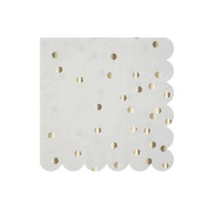 Silver Hexagonal Napkins Small