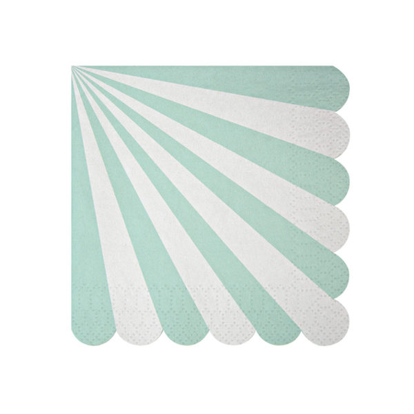 Toot Sweet Aqua Stripe Napkins Small