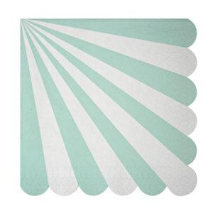 Toot Sweet Aqua Striped Napkins Large