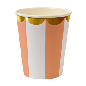 Toot Sweet Orange Stripe Party Cups