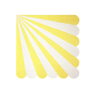 Toot Sweet Yellow Stripe Napkins Small