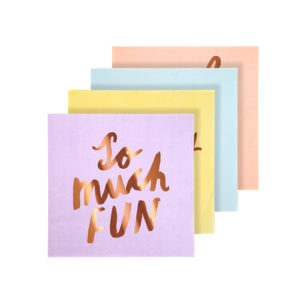 Typographic Napkins Small