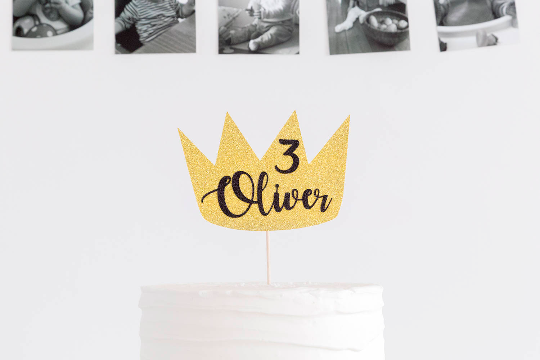 Wild One Birthday Boy Cake Topper | Gold and Black