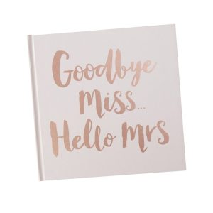 Rose Gold Wedding Gift Advice Book Goodbye Miss Hello Mrs