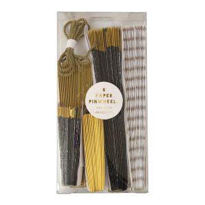 Black & Gold Pinwheel Decorations Box